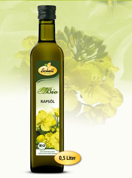 Flasche Bio Rapsöl