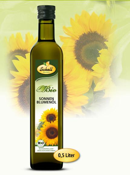 Flasche Bio Sonnenblumenöl