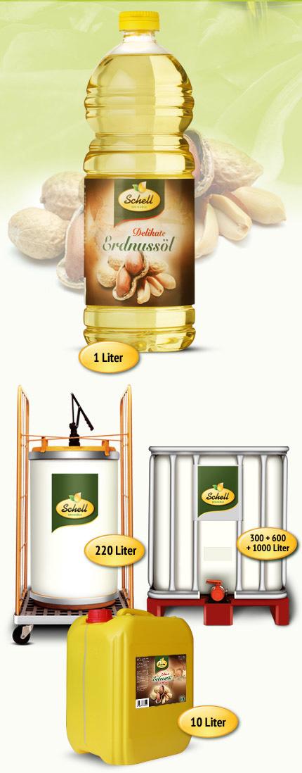 Flasche Delikate Erdnussöl