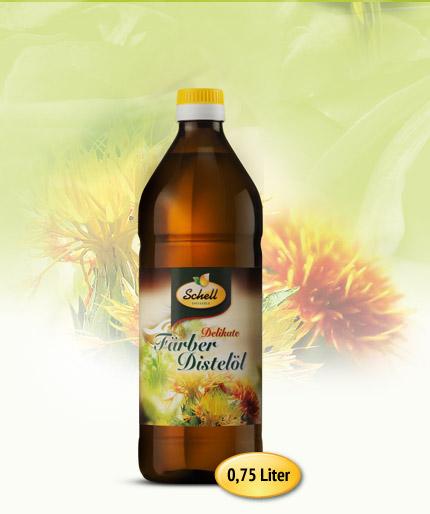 Flasche Delikate Färber Distelöl