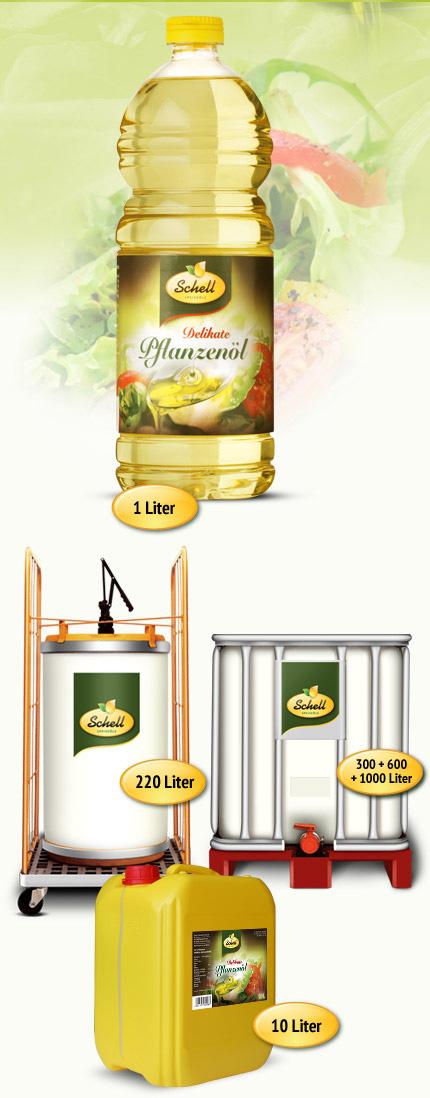 Flasche Kanister Pflanzenöl