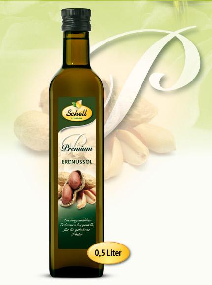Flasche Premium Erdnussöl