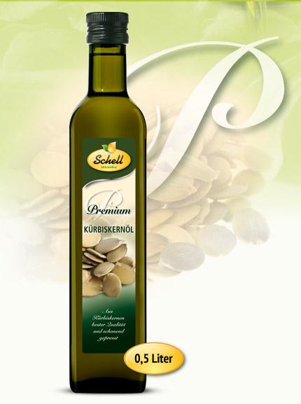 Flasche Premium Kürbiskernöl